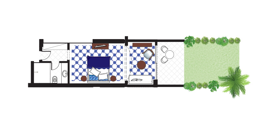 Open-Plan-Junior-Suite-Private-Garden-Floorplan