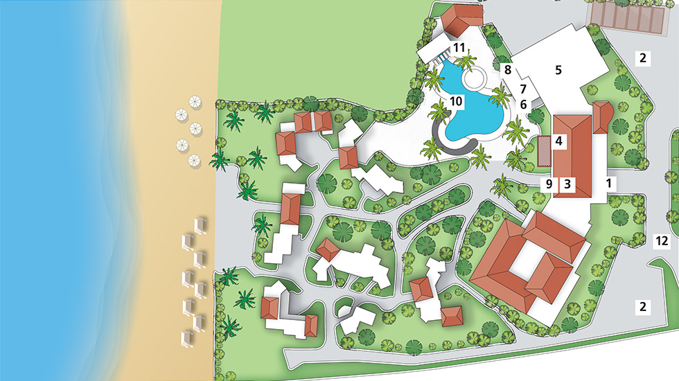 Caramel Hotel Map