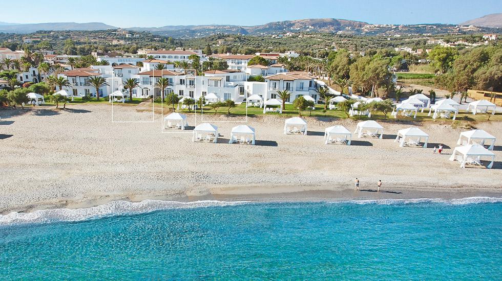 2 bedroom villas on the beach caramel resort in crete for Design boutique hotel kreta