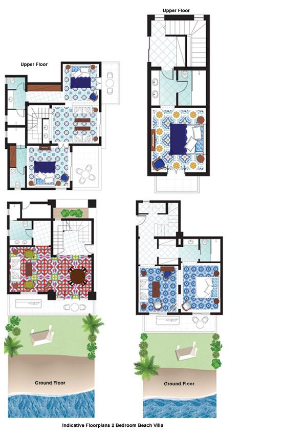 2-Bedroom Beach Villa floorplan