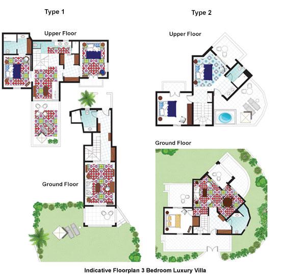 3 Bedroom Luxury Villa Floorplan