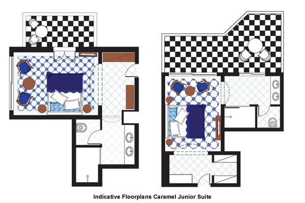 Caramel Junior Suite floorplan