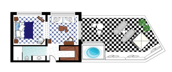 Caramel Luxury Suite Floorplan
