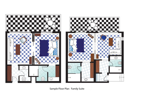 Family Suite Main House Floorplan