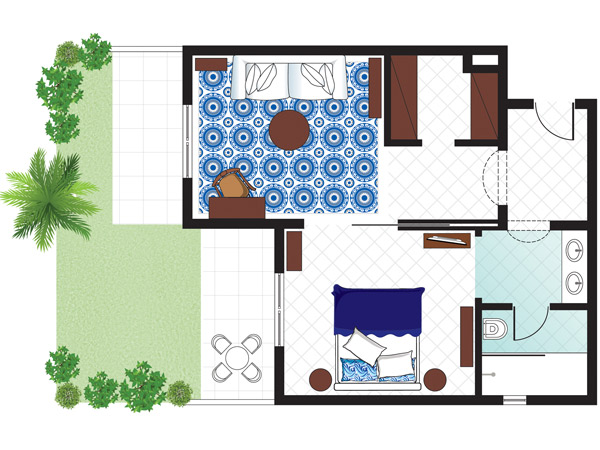 luxury-bungalow-suite-garden-view-floorplan
