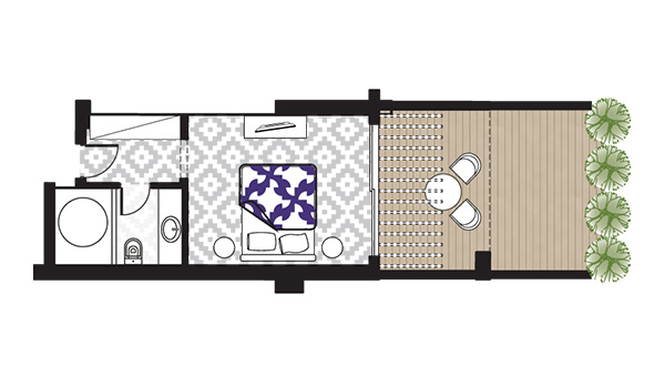 Open Plan Junior Suite Sea View floorplan