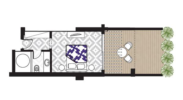 Open Plan Junior Suite Sea View floorplan