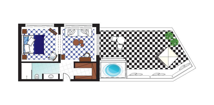 Caramel-Luxury-Suite-with-Private-Outdoor-Hydromassage-Bathtub-Floorplan